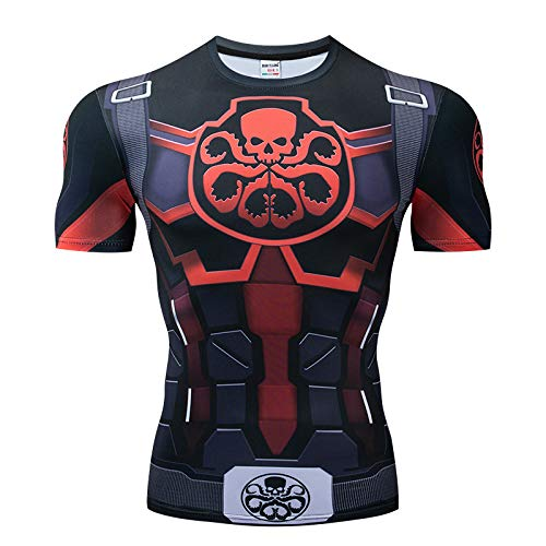 T.M.R.W. Clothing Hydra T-Shirt Mit 3D-Druck Sommer-T-Shirt Schnelltrocknendes Männer-T-Shirt Compression T-Shirt A-XXXXL -