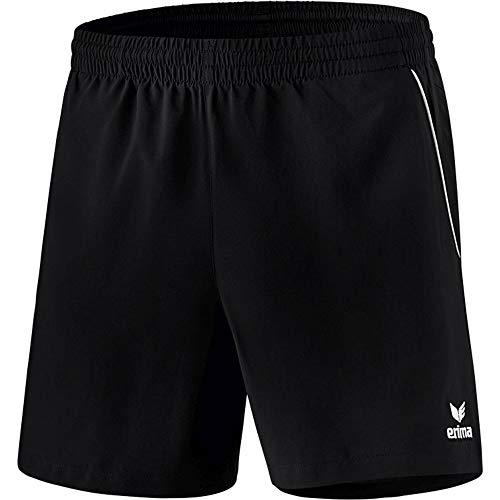 Erima Herren Tischtennis Shorts, schwarz/Weiß, L