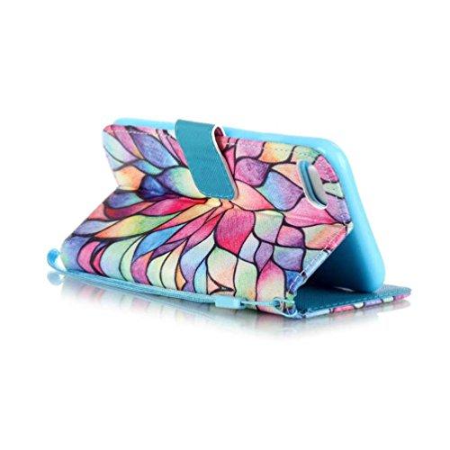 Coloré Motif PU Cuir portefeuille Housse Etui pour iPhone 7 (4,7 pouces) Case Coque Protection Flip Cover avec carte de crédit Slots (Y01#) Y07#