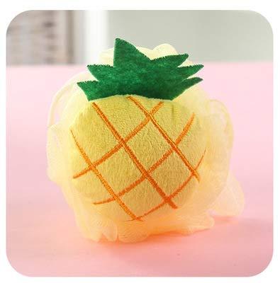 Baumwolle Cartoon Soft Baby Badeschwamm Puderquaste Newbron Infant Dusche Handtuch Bälle Dusche (Farbe : Pineapple)