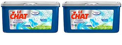 Le Chat Souffle de Fraicheur Duo-Efficacité Lessive Doses 690 g Lot de 2