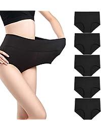 435e9cb859 wirarpa Taillenslip Damen Unterhosen Bambus Mikrofaser Panties Slips Damen  Unterwäsche mit Hoher Taille Ultra Weich Größe