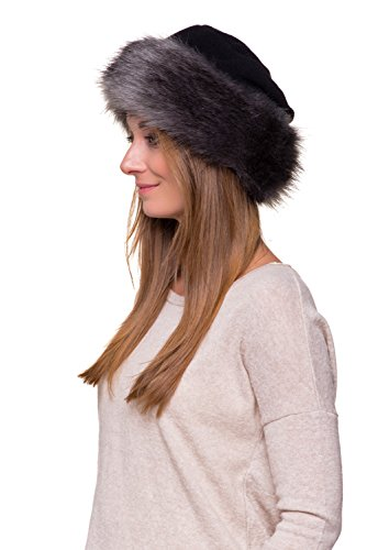1a78998bcd3 Futrzane Faux Fake Fur Hat With Fleece Russian cossack Winter Ladies ...