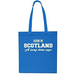 Born In Scotland A Long Time Ago Tote Shopping Gym Beach Bag 42cm x38cm, 10 litres-Small-Sapphire