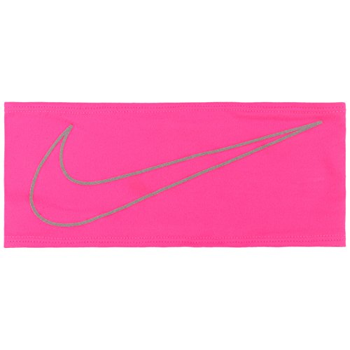 Nike Dri-Fit Swoosh Running Headband Stirnband, Hyper pink/Silver, 0