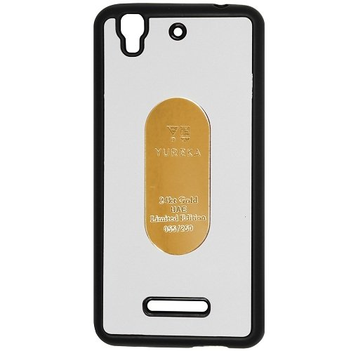 Casotec Metal Back TPU Back Case Cover for Micromax YU Yureka AQ5510 / AO5510 - White  available at amazon for Rs.119