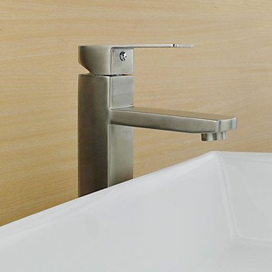 Country Art Deco/Retro Modern Standard Spout Vessel Rain Shower Widespread with Ceramic Valve Single Handle One Hole forStainless Steel