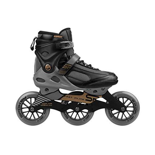 Spokey SHIFFTY Speed Inline Skates für Erwachsene + 2 Rollensätze (80 mm + 120 mm) PU 82A / ABEC11 Carbon Lager/Aluminium Frame -