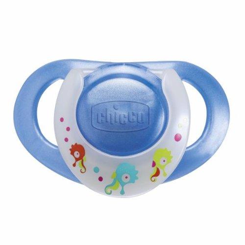 Preisvergleich Produktbild chicco Dekor-Beruhigungssauger Physio mit Ring, BOY, blau/türkis, Kautschuk, 4m+, 2 Stück