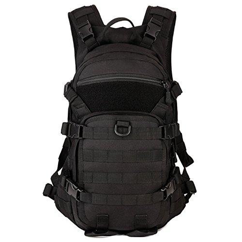 Imagen de  militares tacticas con molle sistema 25l deporte bolso de hombro impermeable estilo de military army patrol para acampada camping senderismo de color negra alternativa