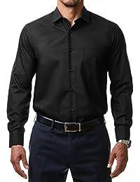 Alessandro Tonelli Herren Klassik Hemd Business Bügelleicht Freizeit Hochzeit Feier Basic Regular Fit Shirt U03-063