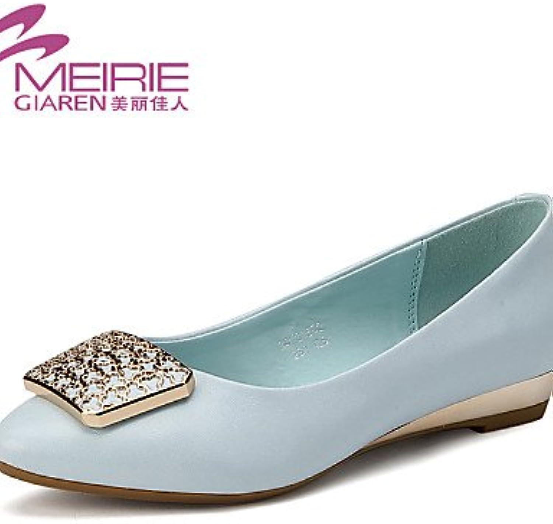 shangyi Zapatos – Bailarinas Mujer – Oficina/LÄSSIG – Piel sintética – Plano tacón – puntiaguda Zapatos/cerrados...