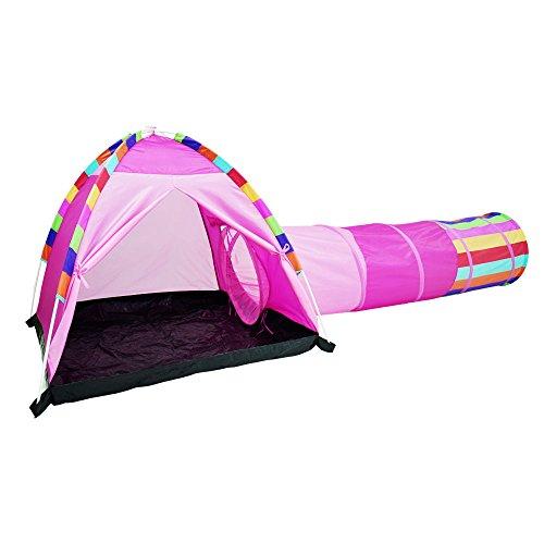 Baby-kuppel-zelt (Acelane Kuppel Zelt und Instant Tunnel Spielzelte Kinder Spielhaus Spielzeug Geschenk für Jungen Mädchen Verwendung für Innen, Außen und Strand (Pink))