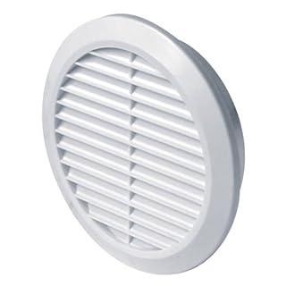 MKK Lüftungsgitter Ø 70 mm rund weiß Insektennetz Abluftgitter Zuluft Abluft Gitter Lüftung T75