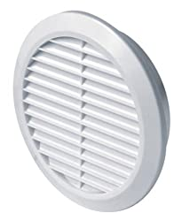 12.5Cm Diameter 125Mm Round White Plastic Grille Vent Grille Cover, Exhaust Air Vent T 32