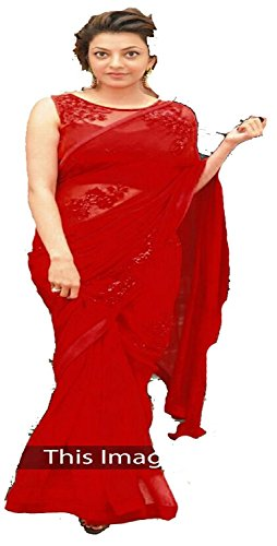 I-Brand Women's Georgette Saree (Isunsa2147-Ib_Red)