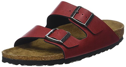 BIRKENSTOCK Damen Arizona Sandalen, Rot Pull Up Bordeaux Veg, 39 EU