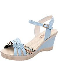 Sandali bianchi con punta rotonda per donna Minetom