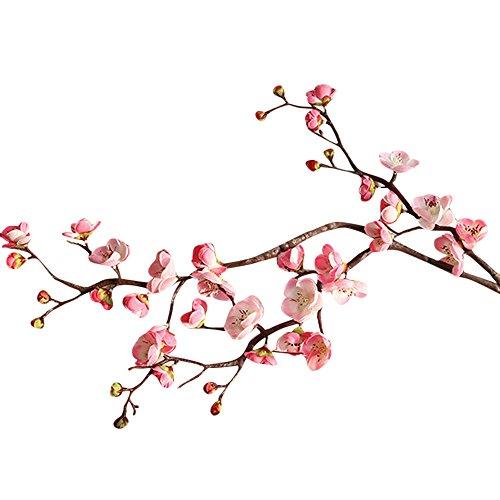 Gigli artificiali in lattice per il bouquet della sposa o per la decorazione della casa, in confezione da 5 pezzi pink