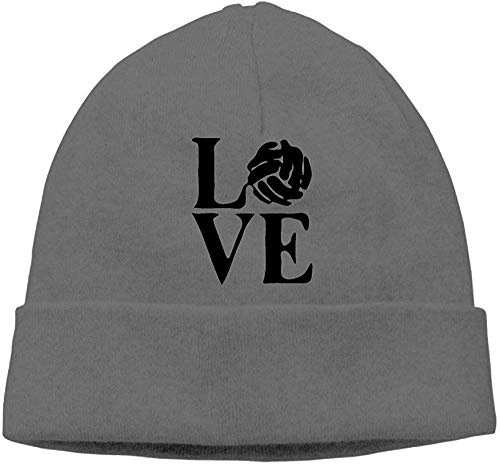 angwenkuanku Men & Women Love Volleyball Outdoor Stretch Beanies Hat Soft Winter Skull Caps gorgeous17283