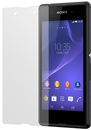 dipos I 2X Schutzfolie matt passend für Sony Xperia E3 Folie Bildschirmschutzfolie