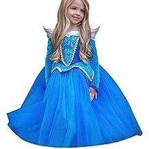 278d6e0e6b14 Beauty Top Vestito Abito Principessa Costume Ragazza frozen Bambina  Principessa Vestito Carnevale Tulle Diadema Cosplay Compleanno