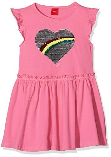 s.Oliver Junior Mädchen 54.899.82.0462 Kleid, Rosa (Purple/Pink 4420), 104 (Herstellergröße: 104/REG) - Mädchen-rosa-jersey-kleid