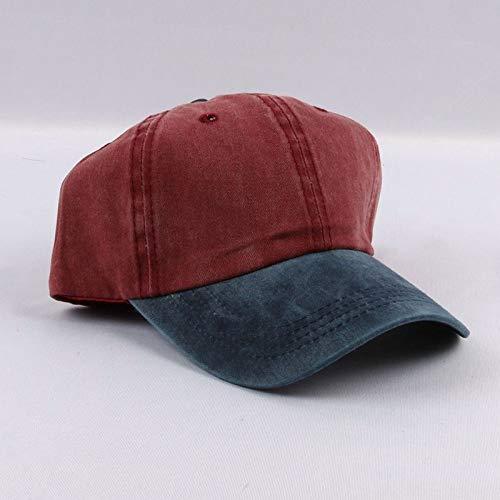 zhuzhuwen Distressed Wash farblich passende Stickerei Bogen Baseball Cap Herren Retro Cap Hut Damen 6 56-62cm (Bogen-baseball-cap)
