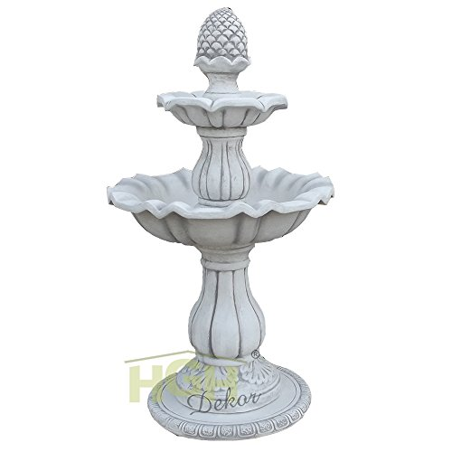 Springbrunnen mit Pinienzapfen Wasserspiel Garten Park Terrasse Dekoration Beton (alt patiniert)