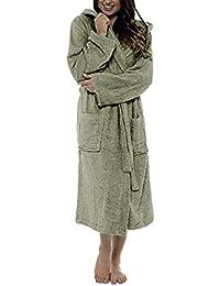 Bata de baño Women túnica Caliente Mujer Women Spring Plush Longened Shawl Albornoz Ropa para el