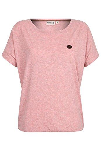 Naketano Female Shortsleeve Schnella Baustella Schmutzmuschi Pink Melange, S (T-shirt Reinigen Damen-pink)