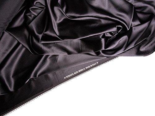 Nachtwäsche Damen Negligee aus seide Hana (XS-2XL) Schwarz