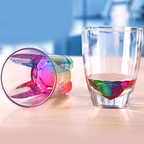 Mitlfuny -> Haus & Garten -> Küche,Kreative Geschenk-Neuheit blinkende Regenbogen-Farbbierbecher-Glasschale