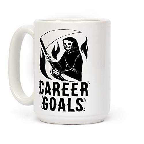LookHUMAN Career Goals Kaffeebecher, 425 ml, Keramik, Weiß (Team Usa Halloween-kostüm)