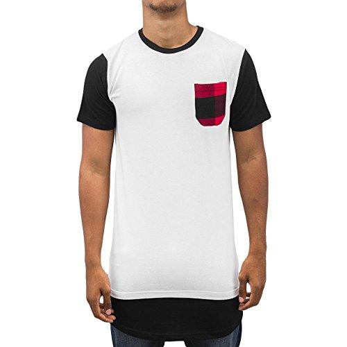 Bangastic Herren Oberteile / T-Shirt Plaid Weiß