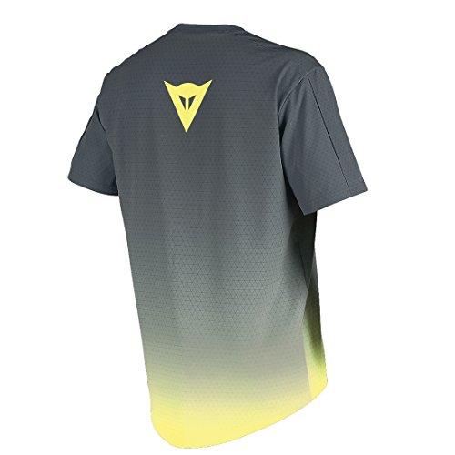Dainese Herren T-shirt Driftec grau - Grau/Gelb