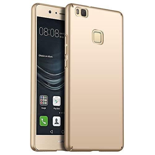 for Huawei P9 Lite Hülle, ZUERCONG [Matte Serie] Ultra Dünn Slim Cover Case Anti-Fingerabdrücke Shockproof Handytasche Hartplastik Schutzhülle für Huawei P9 Lite, Glattes Gold