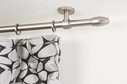 Incasa bastone per tende Ø 20 mm, l. 200 cm. in acciaio satinato – completo