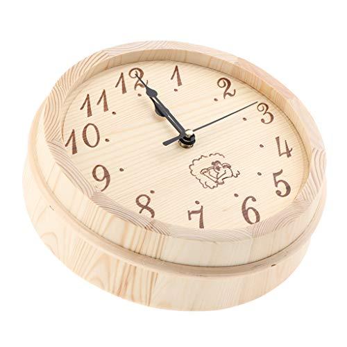 Fenteer Naturholz Uhr Wanduhr Sauna Uhren Küchenuhr Zimmeruhr Zeituhr, geeignet für Haus Büro Hotel usw. - Büro Damen-uhr Für