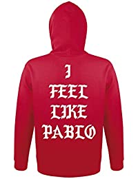 TRVPPY Hooded Sweat Suéter Sudadera con capucha Modelo I FEEL LIKE PABLO, para hombre, en muchos colores diferentes