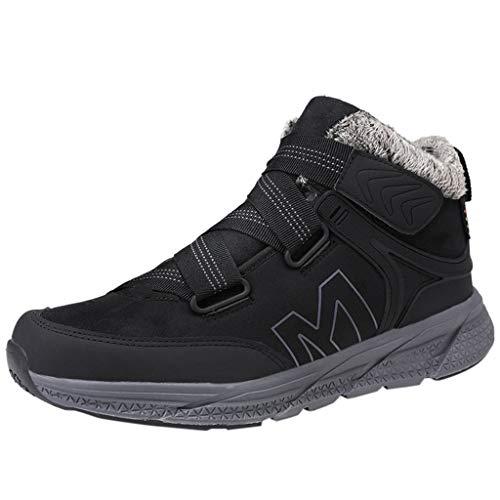DOLDOA Herren Turnschuhe,Männer große beiläufige Kurze Stiefel niedrige Schuhe Retro England Freizeitschuhe Schwarz, Dunkelgrau