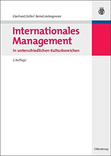 Internationales Management in unterschiedlichen Kulturbereichen by Eberhard Dülfer (2008-05-05)