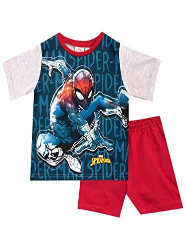 Marvel Pijamas Manga Corta niños Spiderman Rojo 7-8