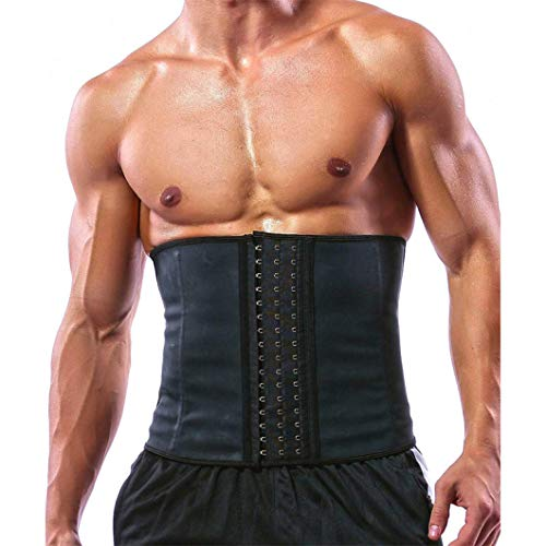 Mens Sweat Body Shaper Zurück Corrector Taille Trainer Control Belly Slimming Belts