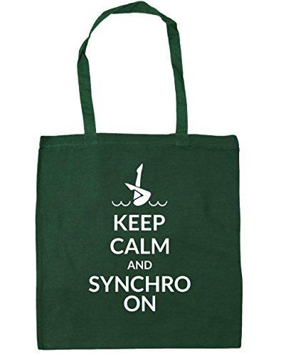 hippowarehouse-keep-calm-and-synchro-on-tote-shopping-gym-beach-bag-42cm-x38cm-10-litres