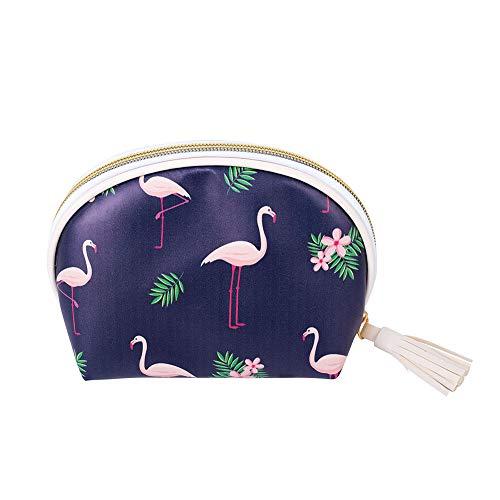 Ruikey Flamingo Bolsa De Maquillaje Bolsas De Aseo Mujer Impermeable Bolsa De Cosméticos Portátil Bolsa De Maquillaje Organizador Bolsas De Aseo Niña Escolar