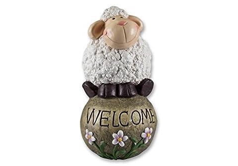 Schaf auf Kugel Lamm Gartendeko Deko Garten Tier Figur Artikel