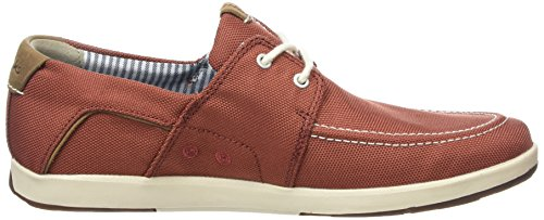 Clarks Norwin Go, Derby homme Rouge (Red Synthetic)