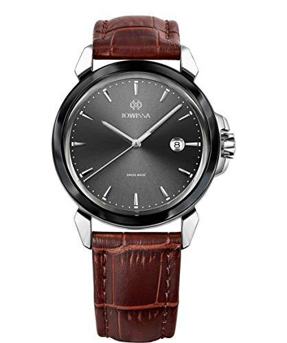 Jowissa LeWy 3 Swiss J4.243.L - Reloj de Pulsera para Hombre, Color Gris, marrón y Plateado
