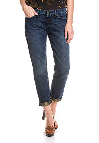 7 For All Mankind Damen Boyfriend-Jeans Goldschimmer